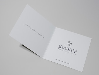 Foldable card or brochure mockup