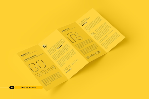 Сложенный макет брошюры