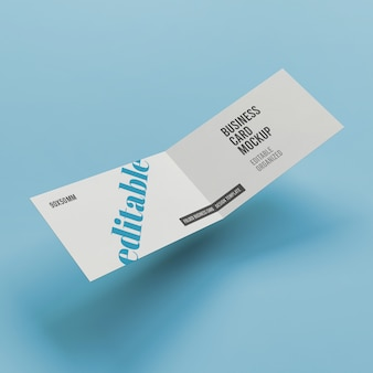 Folded business card mockup premium psd