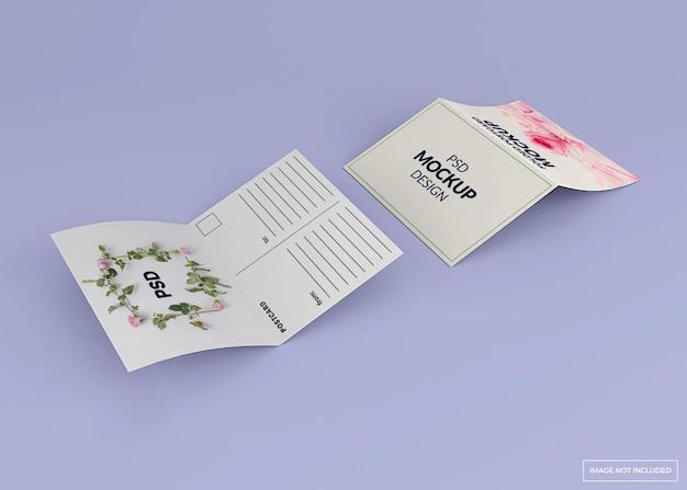 접힌 엽서, 초대장 모형