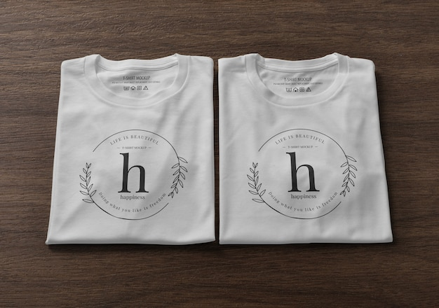 접힌 티셔츠 모형 디자인