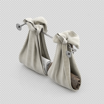 Folded towels 3d isolated render
