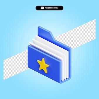 Folder 3d render illustration isolated