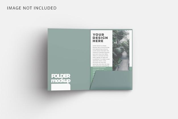 Folder mockup with a4 paper mockup