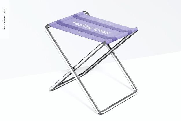 Складной стул мокап, перспектива
