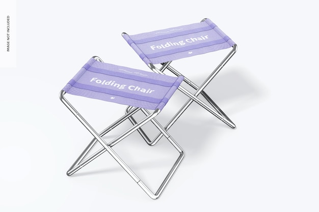 Макет складных стульев, вид слева