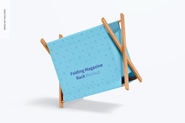 Складной макет стеллажа для журналов, наклонный
