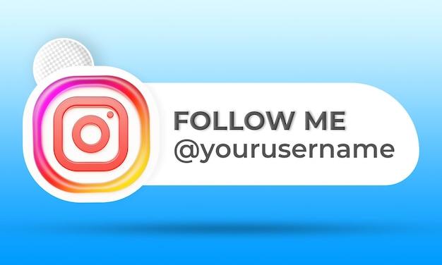 Follow us on instagram social media lower third