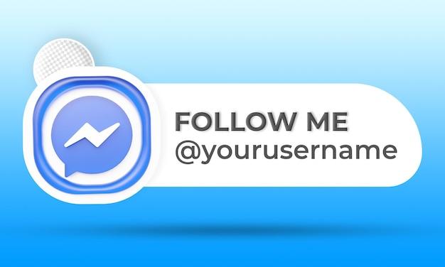 Follow us on messenger social media lower third