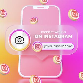 Подписывайтесь на нас в instagram в социальных сетях квадратный баннер шаблон