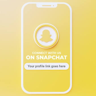 Snapchat 소셜 미디어 게시물 모형에서 우리를 따르십시오.