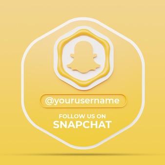 Snapchat 소셜 미디어 프로필 사각형 배너 템플릿에서 우리를 따르십시오.