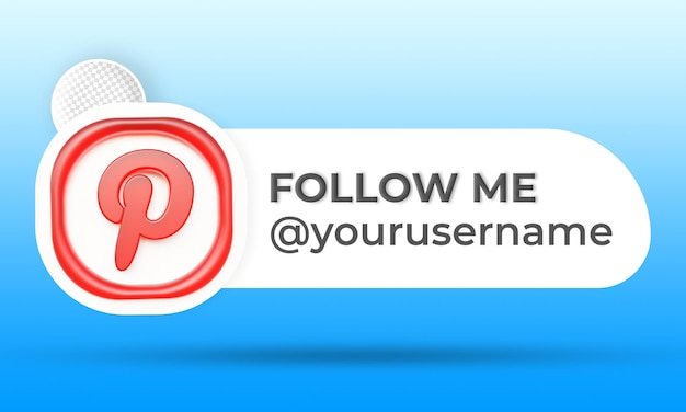 Follow us on pinterest social media lower third