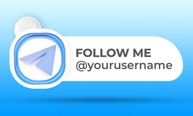 Follow us on telegram social media lower third