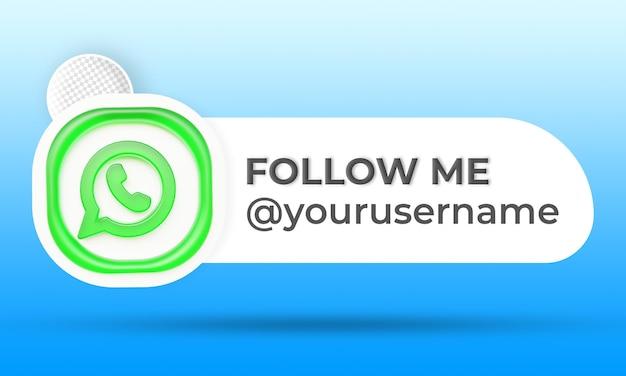 Follow us on whatsapp social media lower third