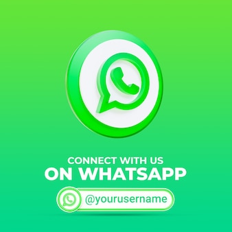 Follow us on whatsapp social media square banner template