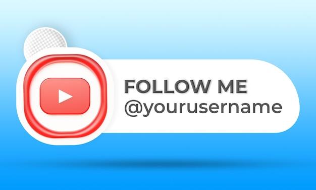 Follow us on youtube social media lower third