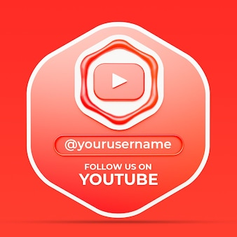 Follow us on youtube social media profile square banner template