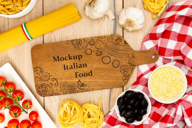 Food background with tasty ingredients