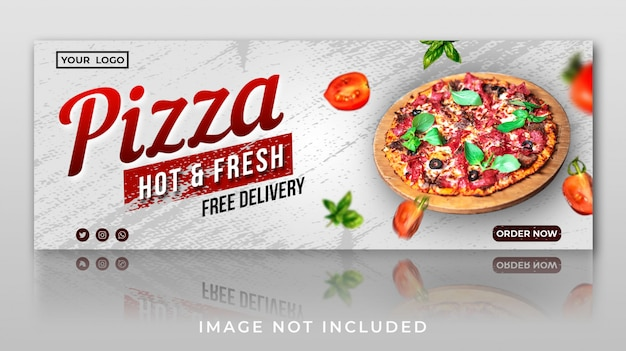Food banner for facebook cover template