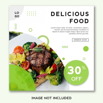 Food banner template design for social media