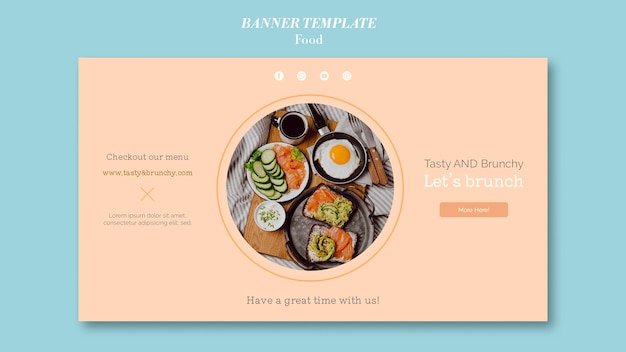 Дизайн шаблона баннера еды