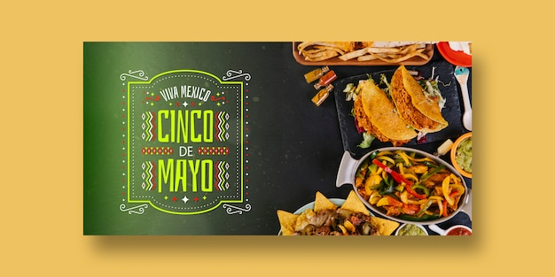 Food banners mockup with mexico concept