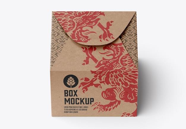 Мокап продовольственной коробки