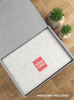 Макет коробки для еды