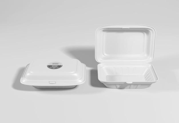 Food box packaging mockup