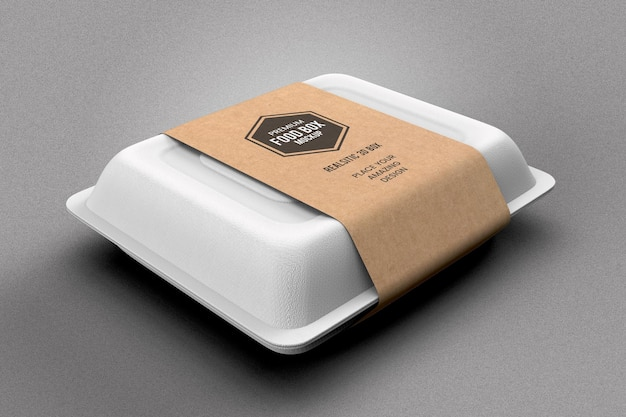 Food box packaging mockup