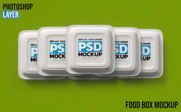 Food boxes 3d rendering mockup