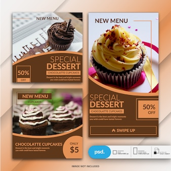 Food business banner template