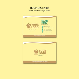 Food business card template with logo