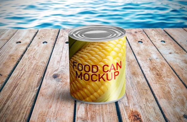 Food can mockup