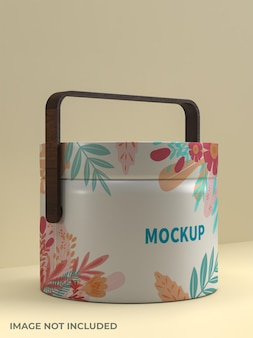 Food carrying container mockup