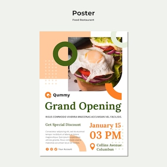 Food concept poster template