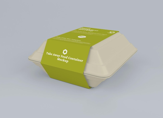 Food container package mockup