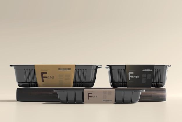 Мокап пищевых контейнеров