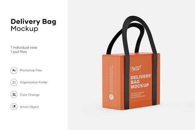 Изолированный макет сумки доставки еды