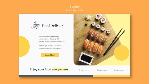 Food delivery banner template