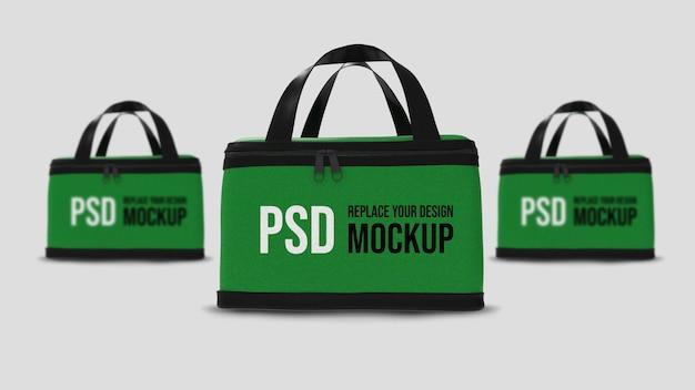 Food delivery box 3d rendering mockup design
