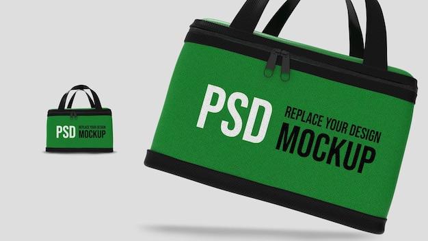 フードデリバリーボックス3dレンダリングモックアップデザイン