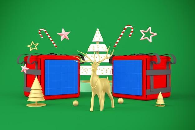 フードデリバリークリスマスモックアップ