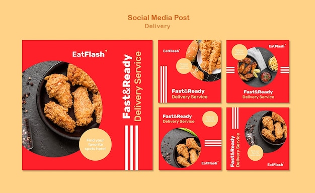 Food delivery social media posts