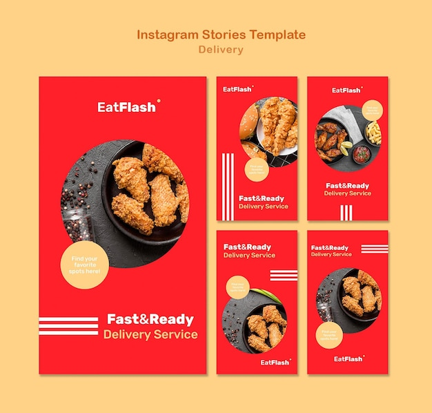 Food delivery social media stories