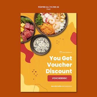 Food discount poster template