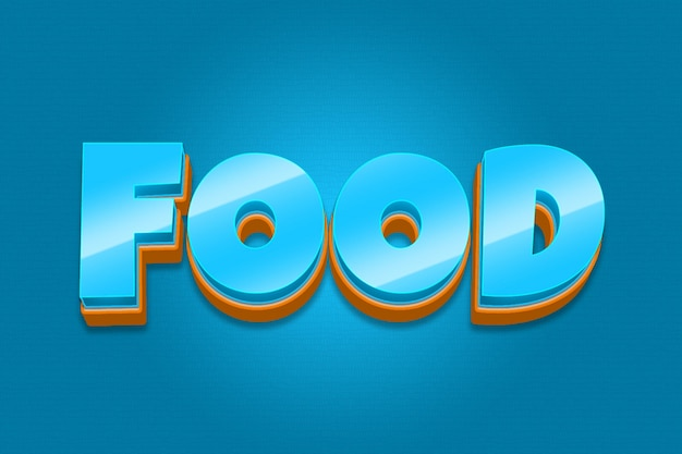 Еда - редактируемый эффект шрифта