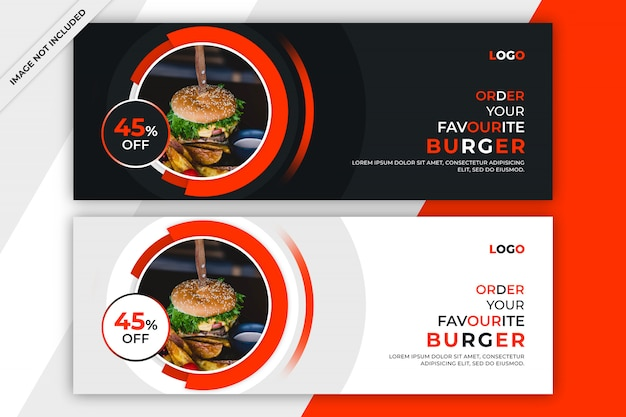 Food facebook cover or banner template