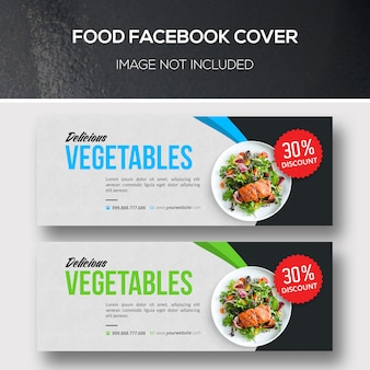 Food facebook covers for vegan restaurant